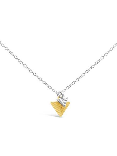 DOUBLE GEOMETRIC TRIANGLE NECKLACE