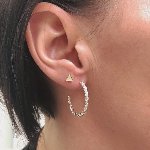 Chain Circle Hoops Large