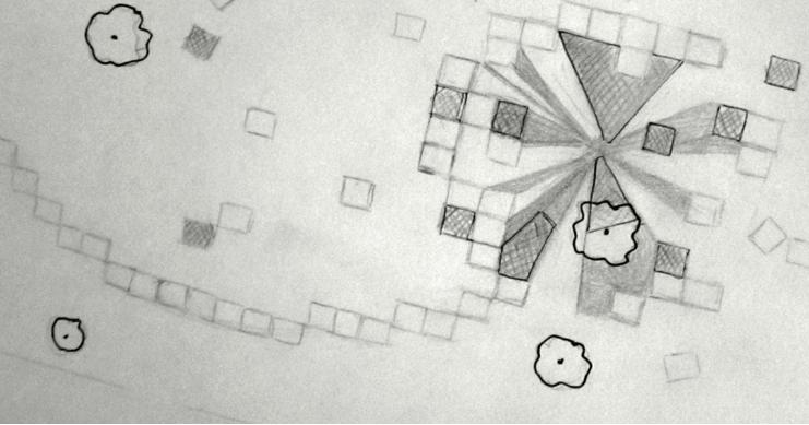 Plan du jardin pixel