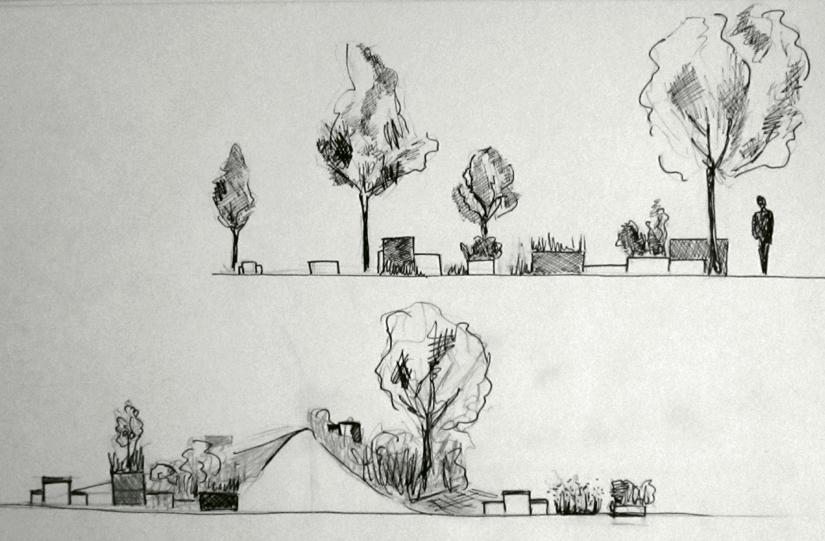 Coupes jardinières jardin pixel