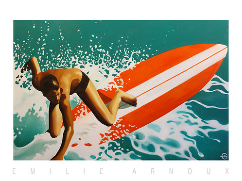 "Dedicated Art Print ""Longboard"" 20/27 inch"
