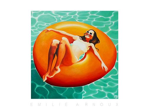 "Affiche signée ""Floatting on the Sun"" 50/70 cm"