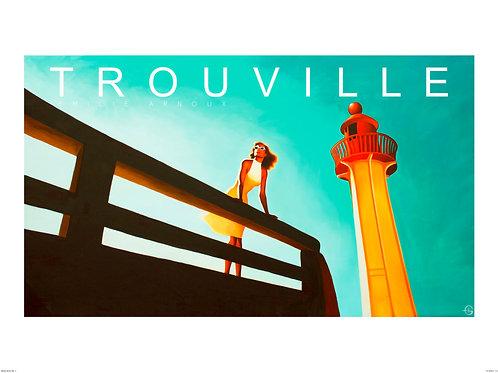 """Affiche de TROUVILLE """"Le phare"""" signée ou dédicacée sur demande    50/70 cm"""