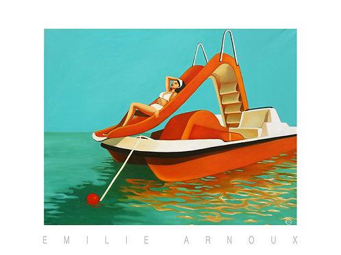 "Dedicated Art Print ""Pedal Boat"" 20/27 inch"