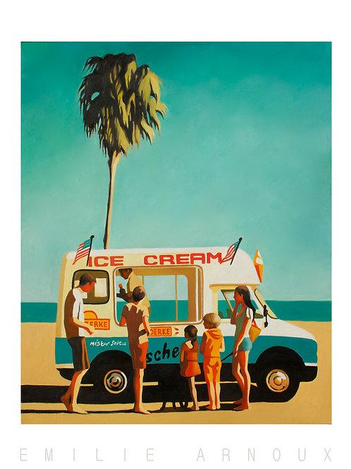 "Dedicated Art Print ""Ice Cream Truck"" 20/27 inch"