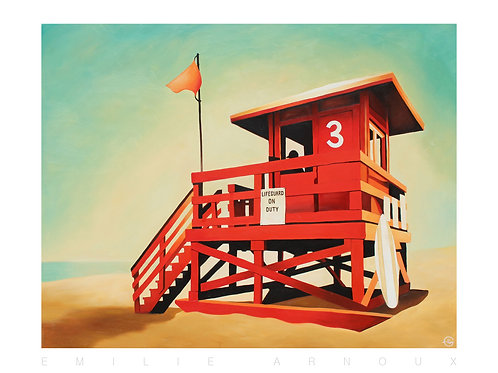 "Affiche signée ""West Coast"" 50/70cm"