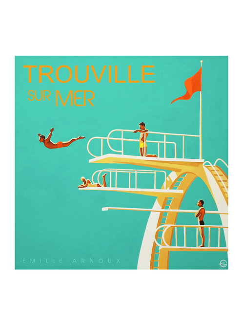"TROUVILLE dedicated art print ""Plunge"" 20/27 inch"