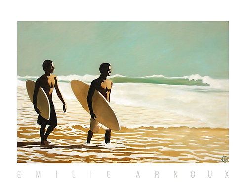 "Dedicated Art Print ""Walking Surfers II"" 20/27 inch"