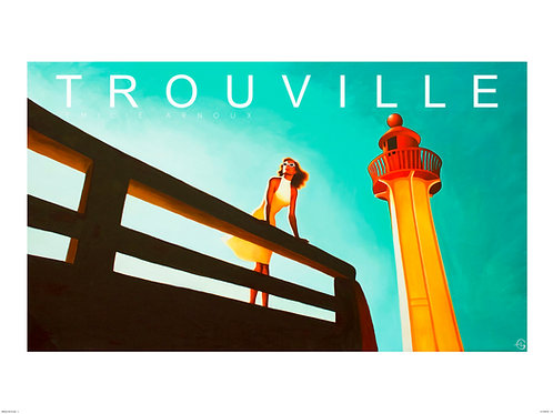 """TROUVILLE dedicated art print """"Lighthouse"""" 20/27 inch"""