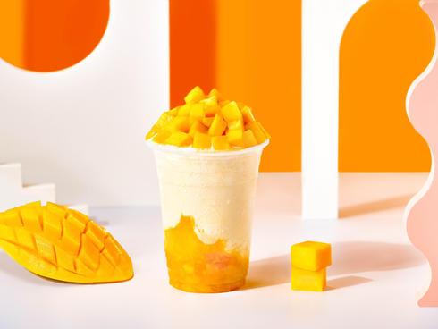 Our mango yoghurt will sure make you tan