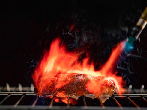 Sizzling with flame-torched goodness and