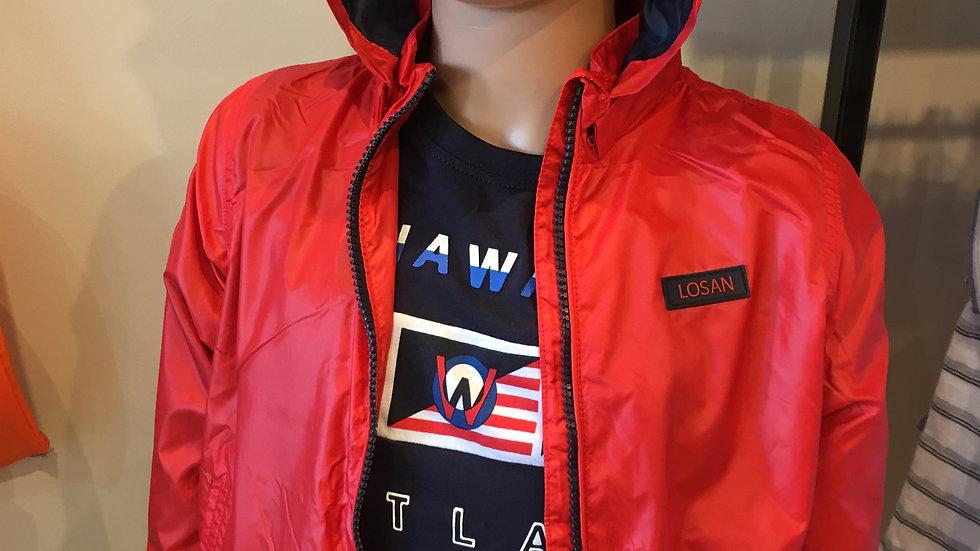 Veste rouge coupe vent et pluie 015-2651