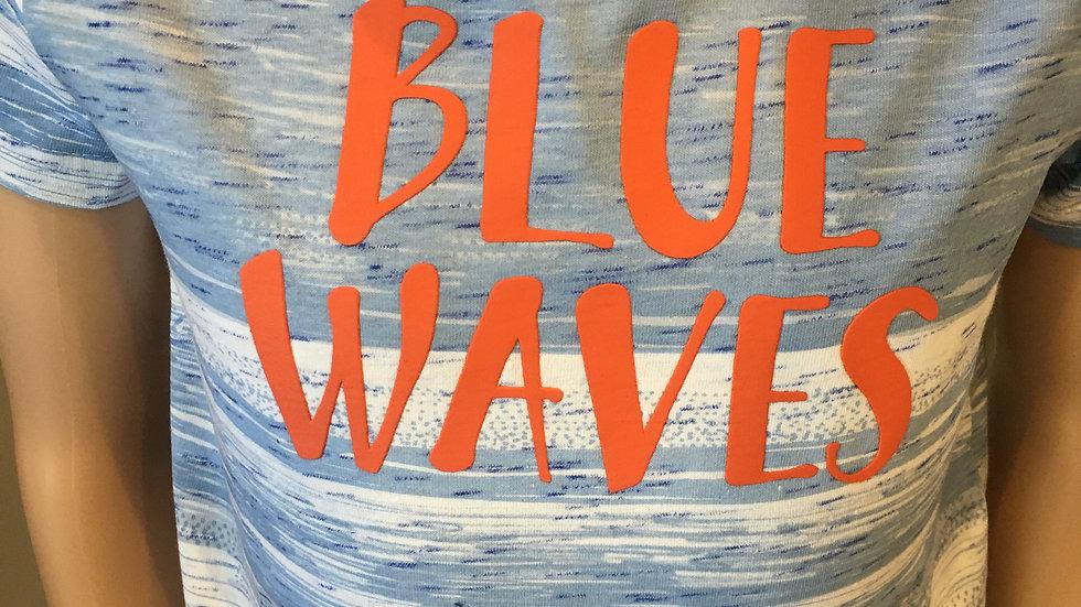 Tee shirt Blue Wane bleu clair et blanc 015-1004