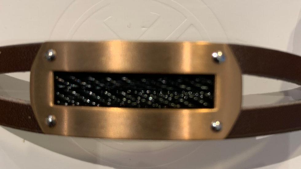 Bracelet Mixte en Acier et cuir