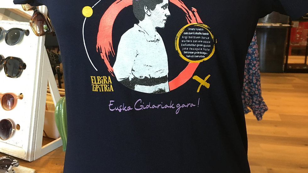 Elbira Zipitria Tee Shirt ceintré Femme Marine