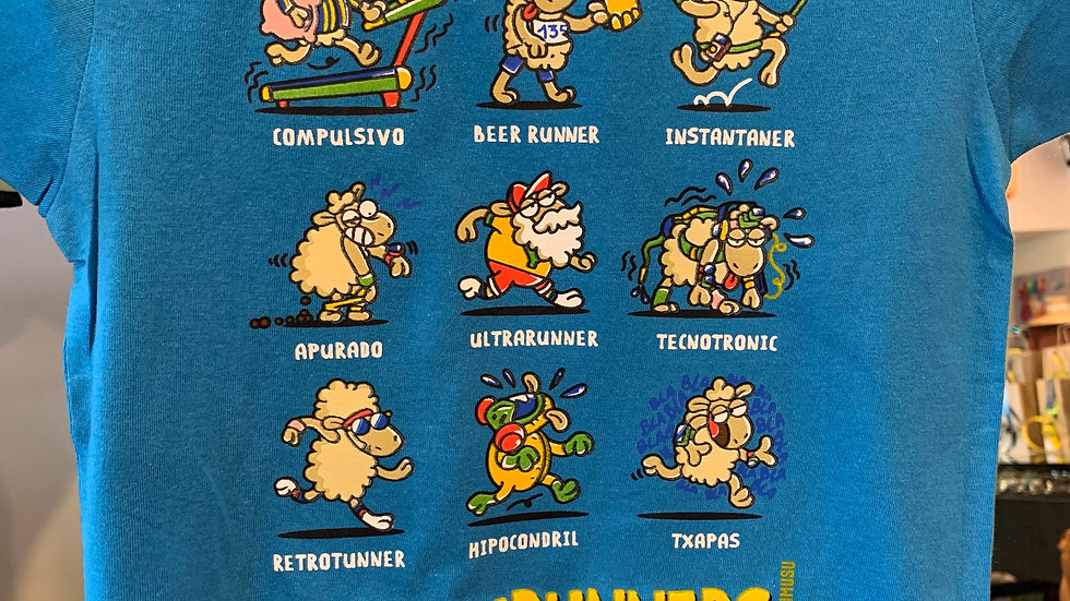 Tee shirt Kukuxurunners Enfant Mixte Bleu