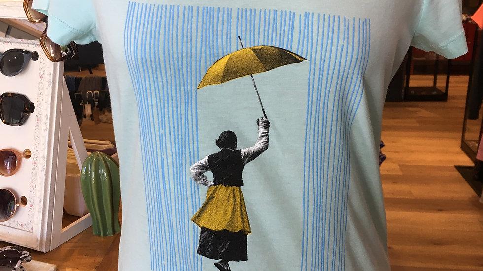 Euritan Tee Shirt Femme Ceintré Carribean Blue