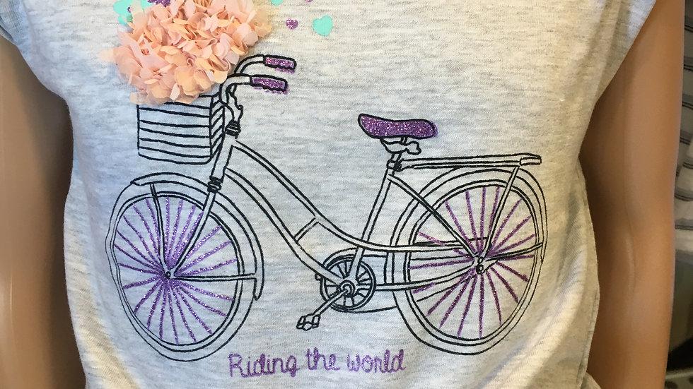 Tee shirt Vélo fille 016-1200