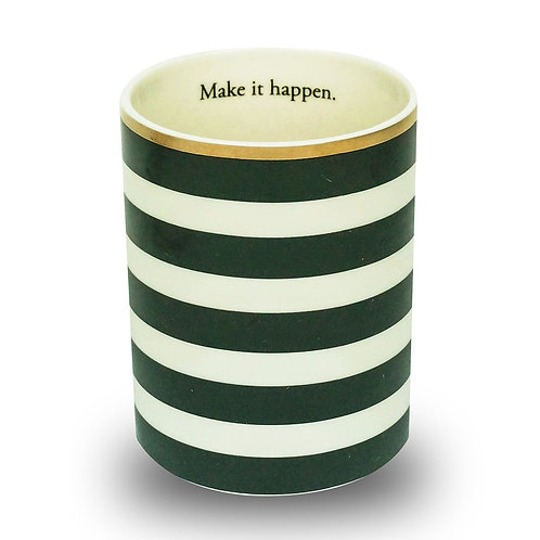 PENCIL CUP - BLACK STRIPES