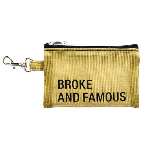 KEYCHAIN WALLET - BROKE AND FAMOUS