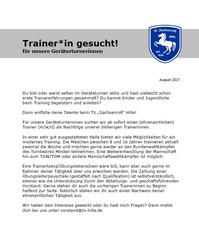 Trainer*in gesucht!