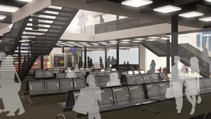 Terminal MP2 Reconfiguration zone commerces