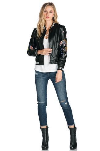 Deep Denim High Low Frayed Jean