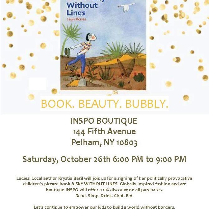 Book. Beauty. Bubbly.