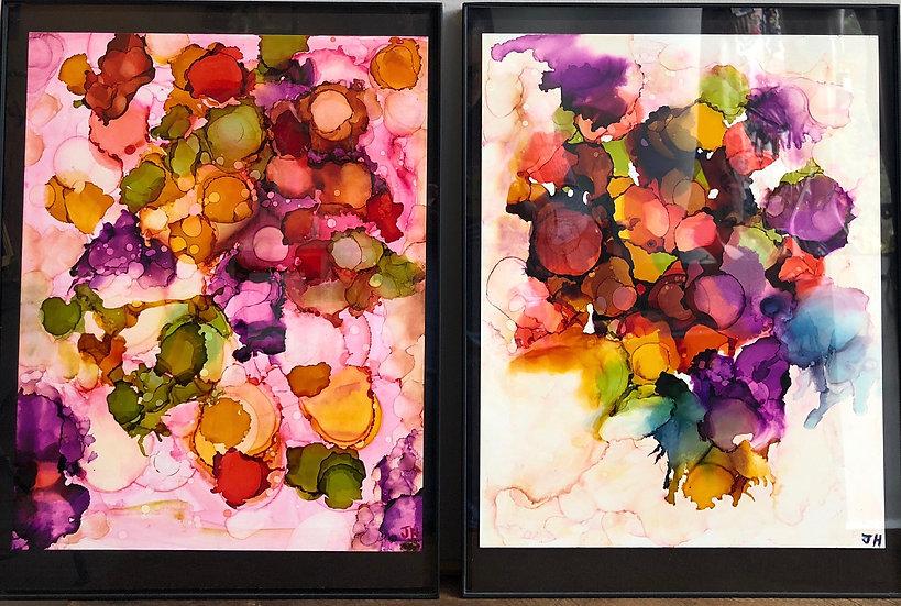 Paper Blossoms I & II