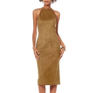 Caramel Faux Suede Dress