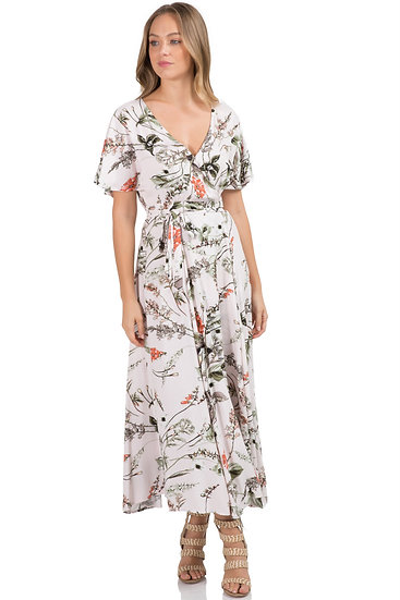 Botanical Garden Wrap Dress