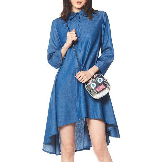 Indigo Denim Tunic Dress