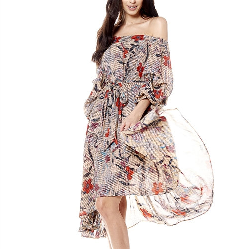 Color Me Floral Off-Shoulder Dress