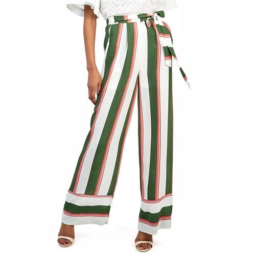 Striped Flowy Wide Leg Pants