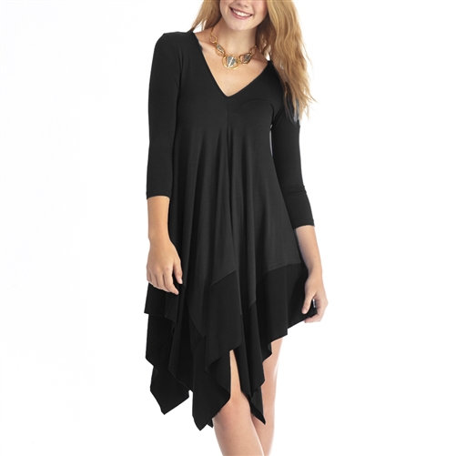 Remixed V-Neck Tee Dress