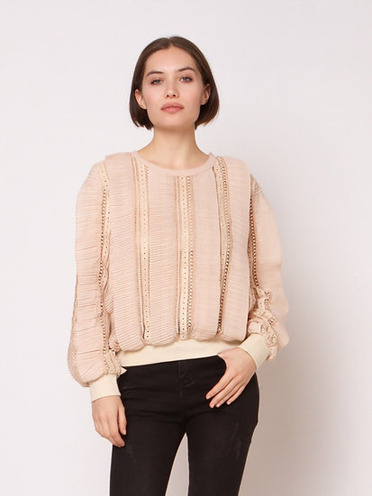 Peachy Keen Lace Sweater