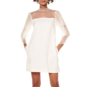 "Ivory ""Angel Wings"" Tulle Sleeve Dress"