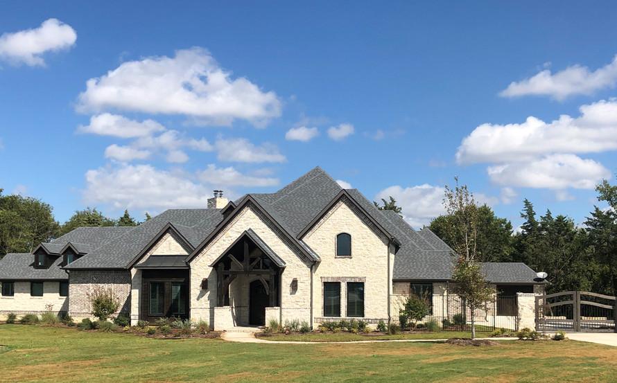 Stately estate front elevation