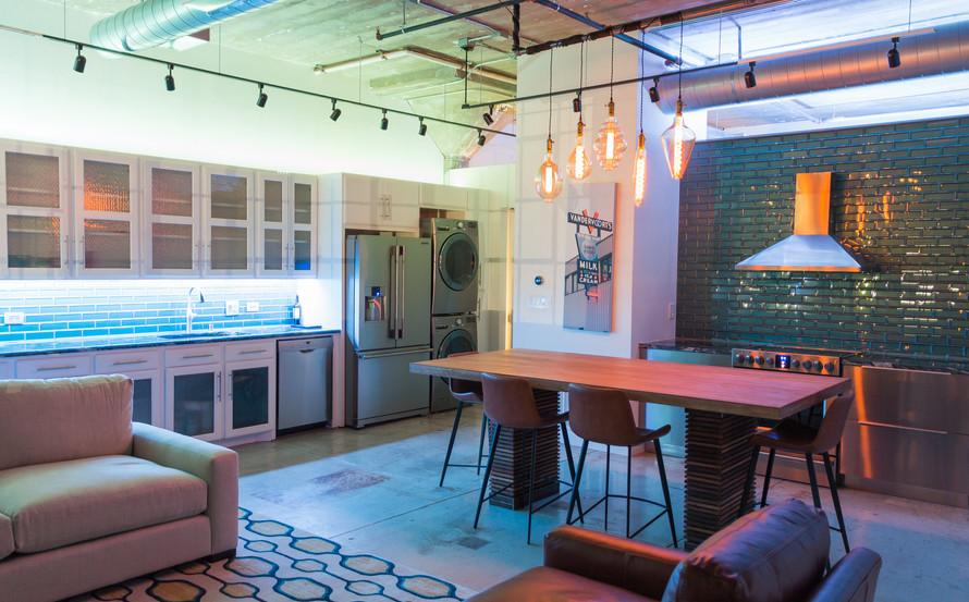 Open loft design is great for entertaining