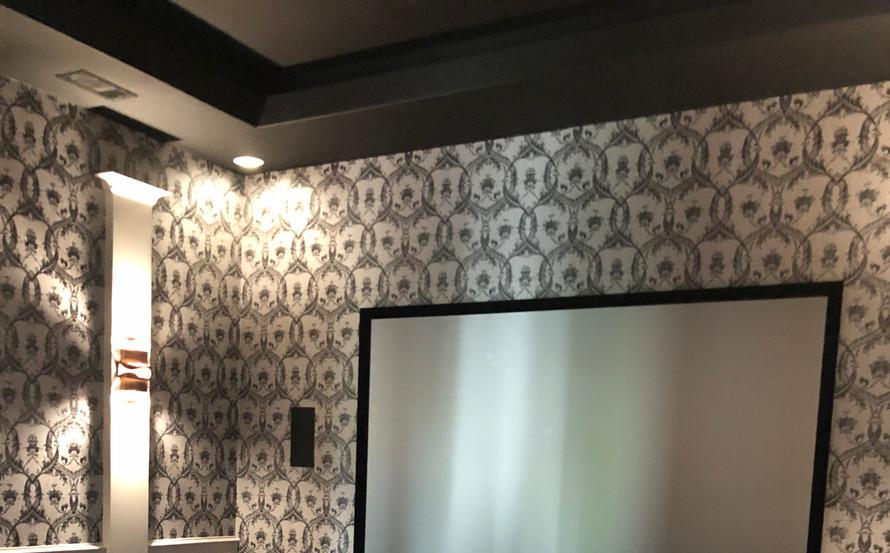 Warm, rich, comfortable media room