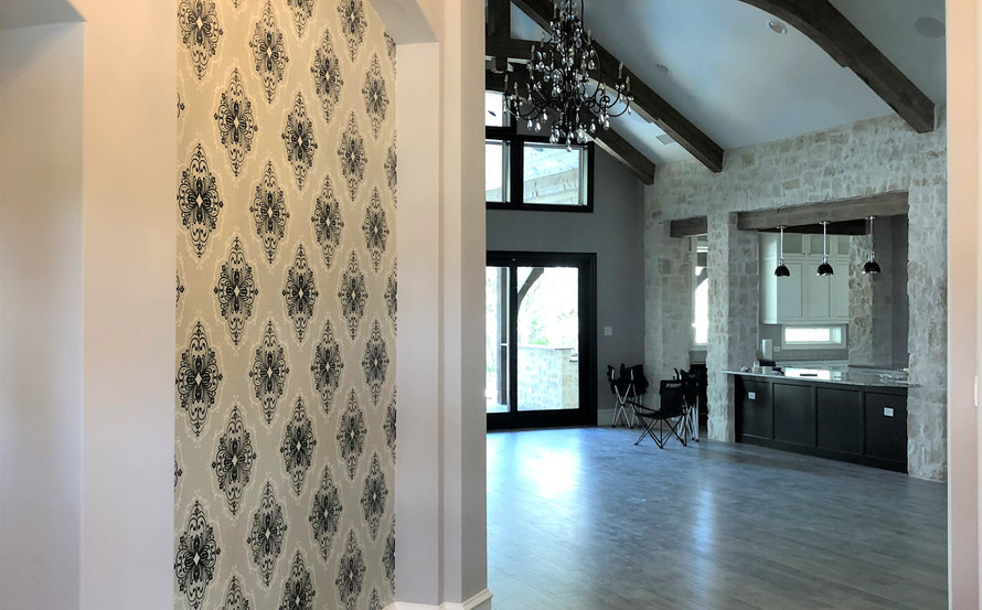 Custom tile floors and wallpapers