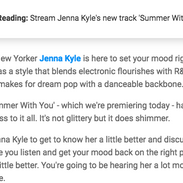 Jenna Kyle for The405