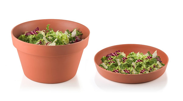 HORTO Bambo Fiber Bowl with Lid/Plate