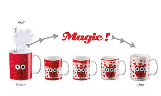 LOVE Magic changing color-image porcelain mug