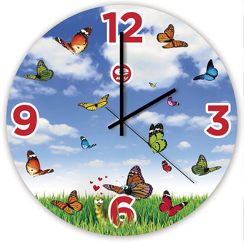 LOVERFLY Glass Wall Clock