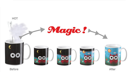 BUONGIORNO Magic Changing Color-Image Mug