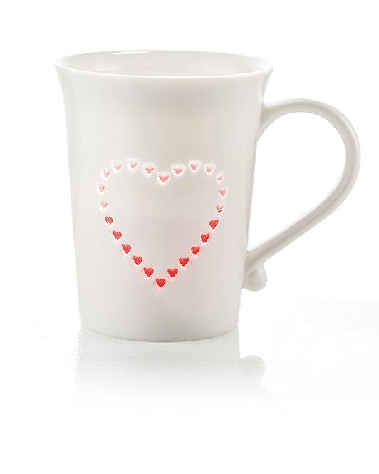 GRACE Mug con decorazione trasparente
