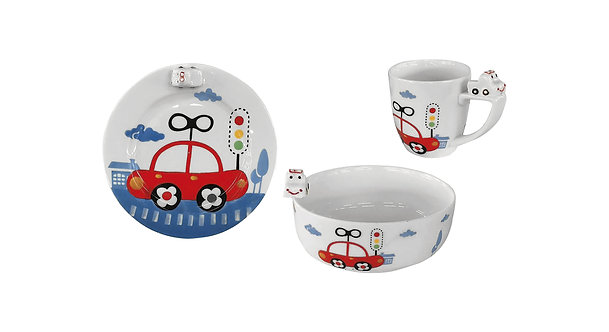 KIDDY Baby feeding 3pcs porcelain set