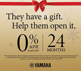 Yamaha 0% Financing Red Envelope Offer w