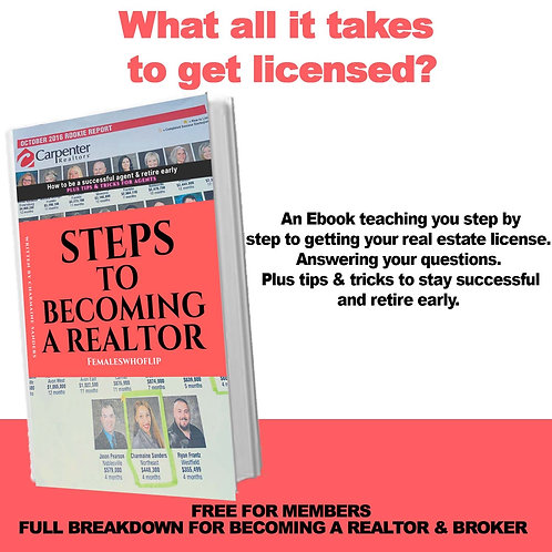 Steps to being a Realtor